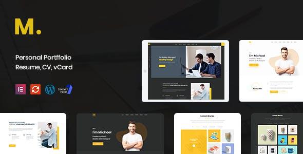 Mak - Personal Portfolio & Resume WordPress Theme