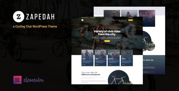 Zapedah - Cycling Club WordPress Theme