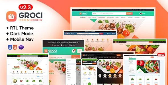 Groci - Organic Food & Grocery Market Template