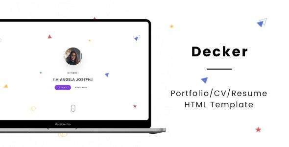 Decker - Portfolio/CV/Resume HTML Template - Personal Site Templates