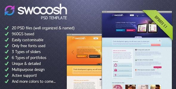 Swooosh - Multipurpose PSD Template - Creative Photoshop