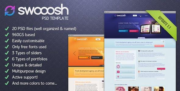 Swooosh - Multipurpose PSD Template
