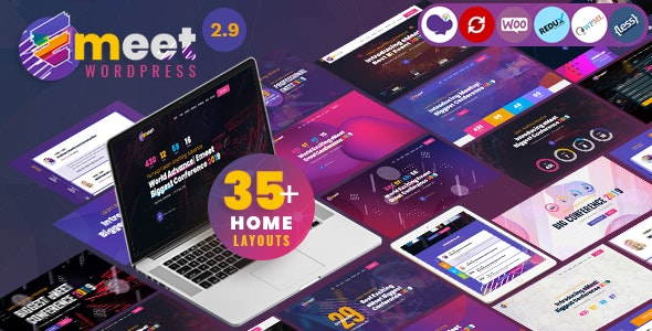 Emeet - Event, Conference & Meetup WordPress Theme - Events Entertainment