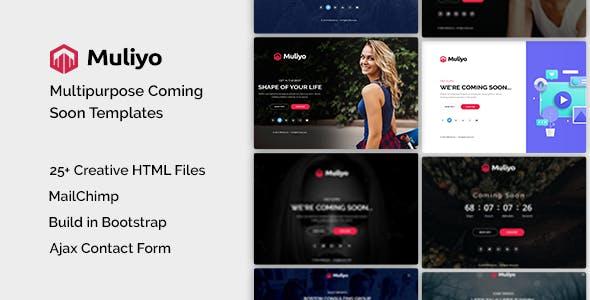 Muliyo | Multipurpose Coming Soon HTML Template