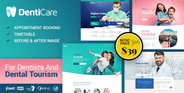 Denticare - Medical WordPress Theme - Health & Beauty Retail