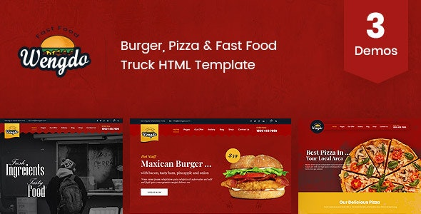 Wengdo - Fast Food HTML Template - Food Retail