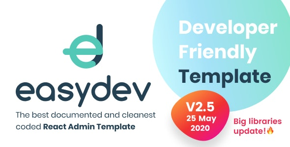 EasyDev — React Redux BS4 Developer Friendly Admin Template + Seed Project - Admin Templates Site Templates