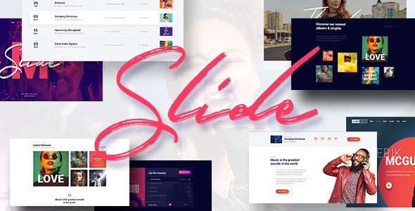 Slide - Music WordPress Theme - Music and Bands Entertainment