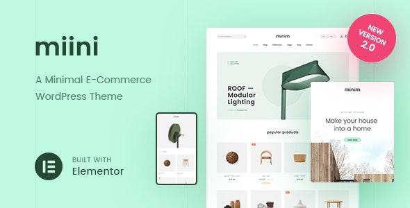 Miini - A Minimal WooCommerce Theme - WooCommerce eCommerce