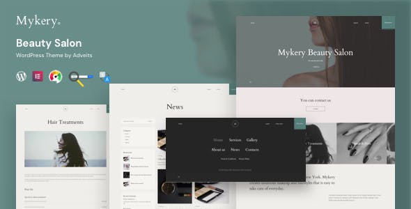 Download Mykery - Beauty Salon WordPress Theme