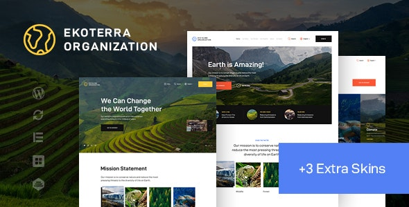 Ekoterra - NonProfit & Ecology WordPress Theme - Environmental Nonprofit