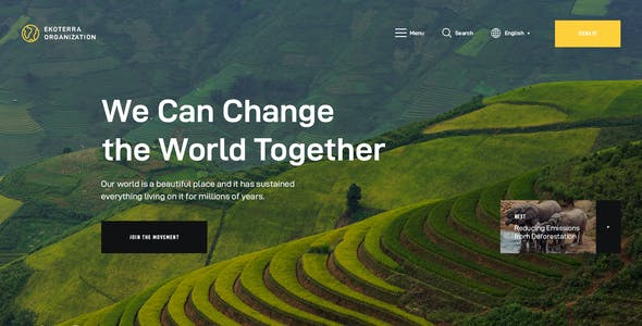Ekoterra - NonProfit & Ecology WordPress Theme