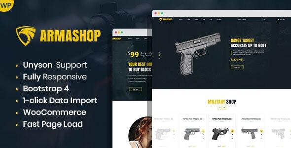 Armashop - Guns and Ammo WooCommerce theme - WooCommerce eCommerce