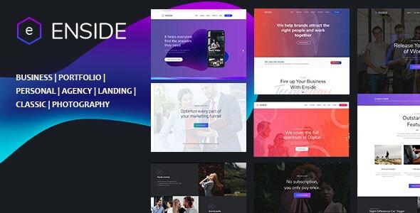 Enside - Multipurpose Onepage Template - Creative Site Templates