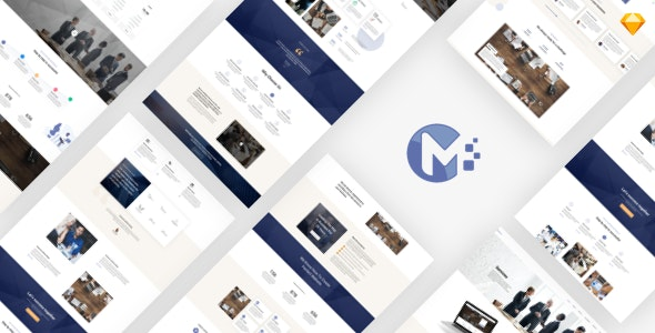 Monero - Business & Company Sketch Template - Business Corporate