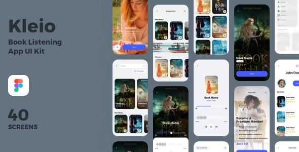 Kleio - Book Listening App UI Kit - Figma UI Templates