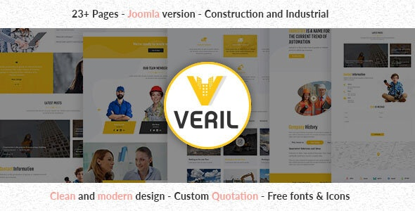 Veril - Construction and Industrial Joomla Template - Business Corporate