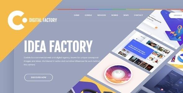 Coddle   Digital Factory Joomla Template - Portfolio Creative