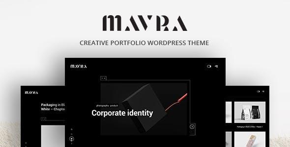 Download Mavra - Creative Portfolio WordPress Theme