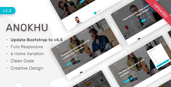 Anokhu - Responsive Landing Page Template - Landing Pages Marketing