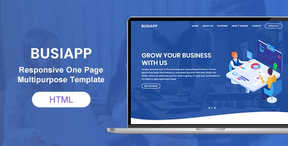 Busiapp   Bootstrap 4 HTML 5 Multi Purpose One/Multi Pages Template - Creative Site Templates