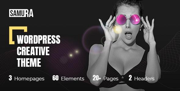 Samura – Web Design Agency Theme - Creative WordPress