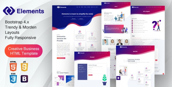 Creative Bootstrap 4  IT Solutions & Digital Services Template - Creative Site Templates