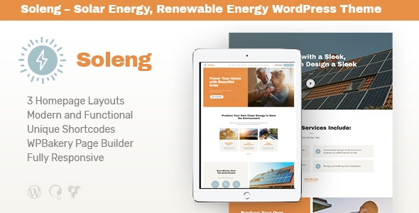 Soleng | A Solar Energy Company WordPress Theme - Retail WordPress