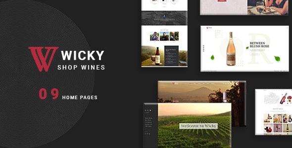 Wicky – Wine Shop WooCommerce Theme - WooCommerce eCommerce