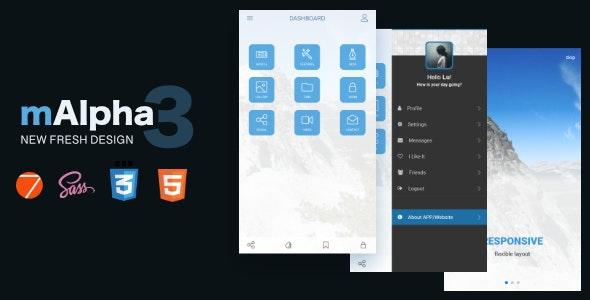 mAlpha2   Mobile Responsive Template - Mobile Site Templates