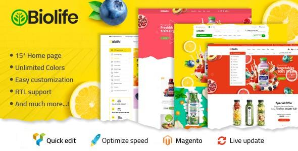 Biolife - Organic Food Magento 2 Theme | RTL Supported