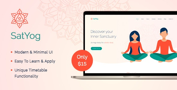 Satyog Fitness & Meditation HTML Template - Health & Beauty Retail