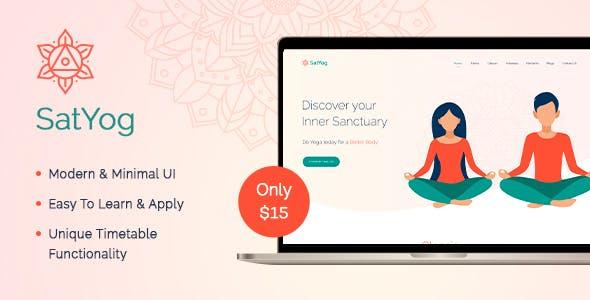 Satyog Fitness & Meditation HTML Template