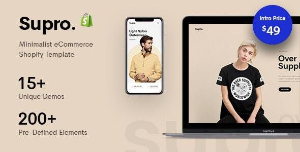 Supro -  Minimalist Responsive Shopify Theme - Shopify eCommerce