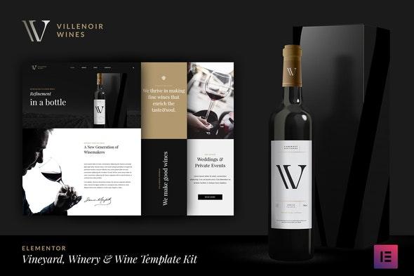 Villenoir - Wine Template Kit - Food & Drink Elementor