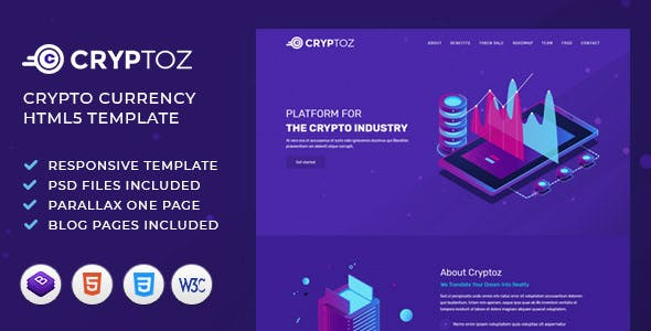 Cryptoz | ICO, Bitcoin And Crypto Currency HTML Template