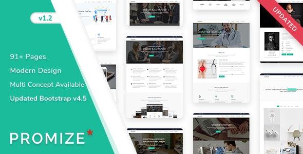 Promize - Responsive Creative Multipurpose Template - Corporate Site Templates