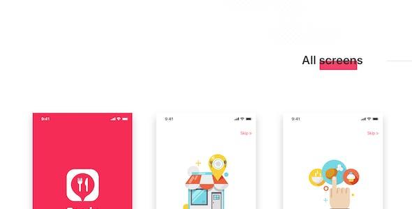 Foody mobile App UI Kit for Adobe XD