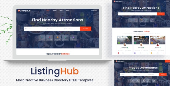 Listing Hub - Directory & Listings HTML Template - Business Corporate