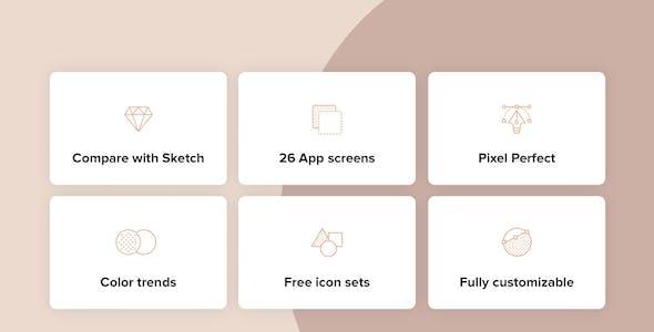 Furniture Design UI Kit for Adobe XD