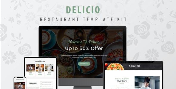 Delicio - Restaurant WordPress Template Kit