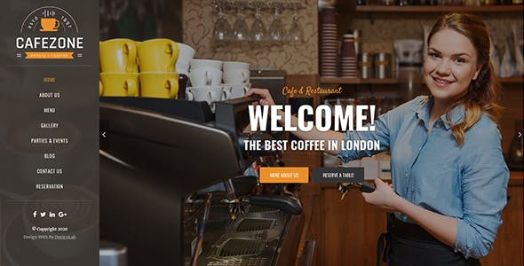 CafeZone: Coffee Shop Restaurant Angular Template