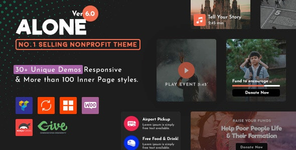 Alone – Charity Multipurpose Non-profit WordPress Theme - Charity Nonprofit