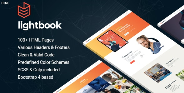 Lightbook - book author promo HTML template - Personal Site Templates