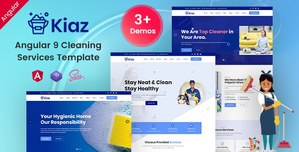 Kiaz - Angular 9 Disinfecting & Cleaning Services - Business Corporate