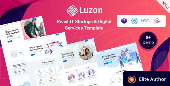 Luzon - React Next IT Business & Startup Template - Technology Site Templates
