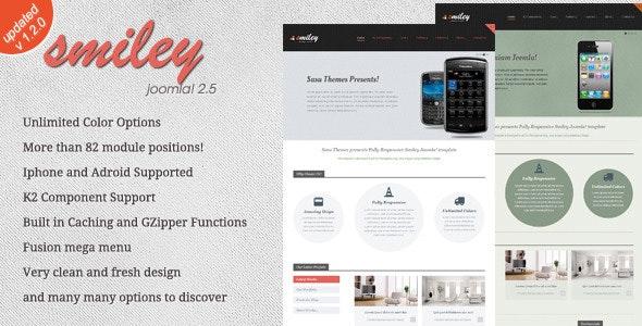 Smiley Premium - Joomla Template  - Joomla CMS Themes