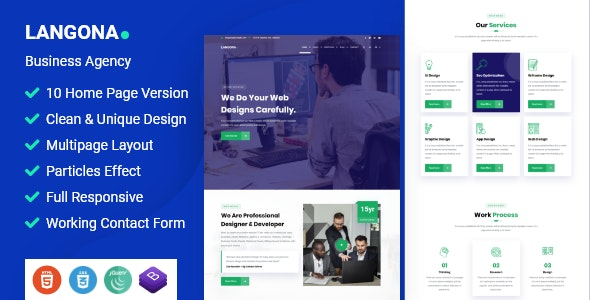 Langona - Business Agency HTML Template - Business Corporate