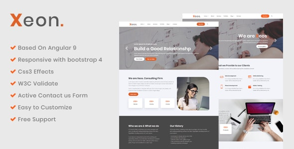 Xeon - Angular Business template - Corporate Site Templates