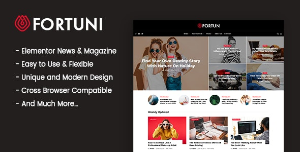 Fortuni - WordPress Blog & Magazine Theme - News / Editorial Blog / Magazine